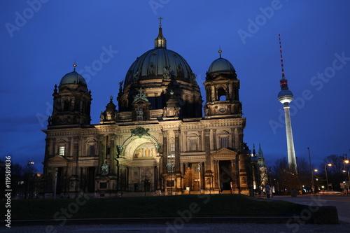Fotobehang Volle maan Catedral de Berlin