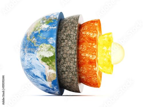 Fotografia Layers of earth. 3D illustration