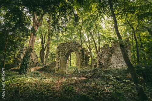 Papiers peints Ruine Ruins in the forest