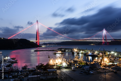 Fotografia  Yavuz Sultan Selim istanbul bosphorus bridge