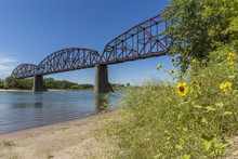 Railroad Bridge Over Missouri River