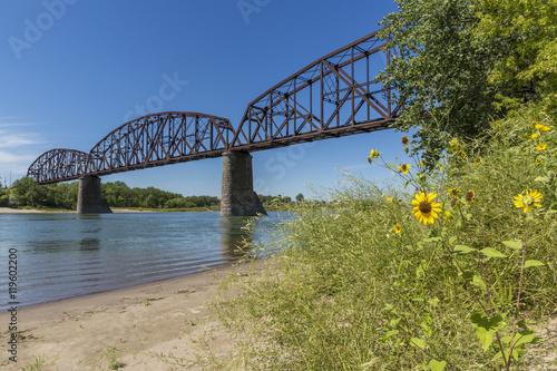 Fotografía Railroad Bridge Over Missouri River