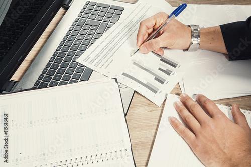 Vászonkép  documenti sulla scrivania