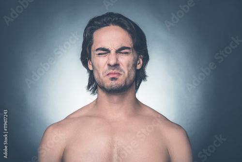 Fotografie, Tablou  Feeling disgust.