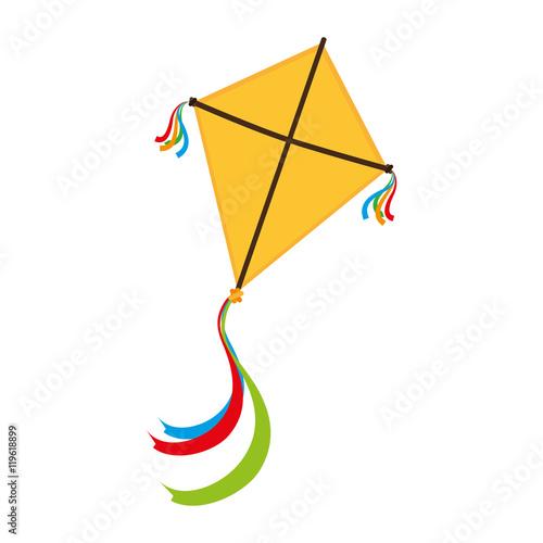 Photo kite wing festival fun isolated vector illustration eps 10