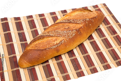 Fotografie, Obraz  Loaf of golden crusty seeded Italian Bread