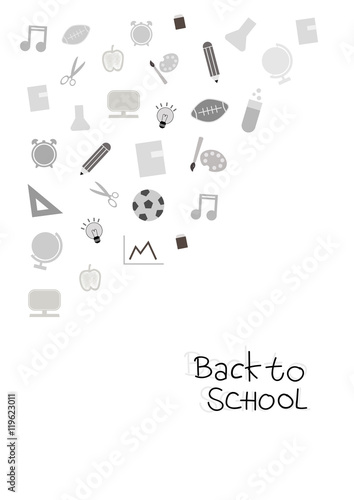 Fotografie, Obraz  Back to school cover background