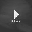 Play button computer symbol