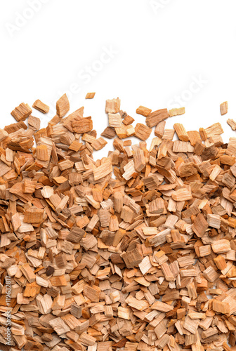 Fotografering Close up of smoking woodchips