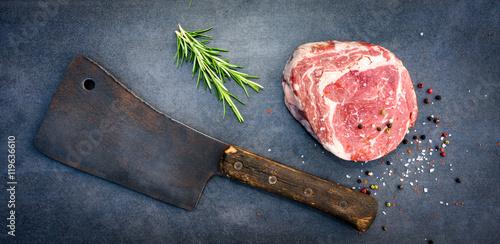Staande foto Vlees Steak, Fleisch,fleischmesser