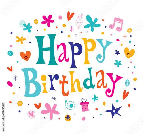 Photo Happy Birthday decorative type greeting card