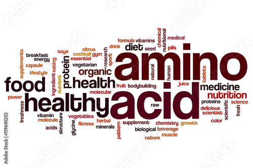 Photo Amino acid word cloud