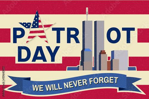 Fotografia  Patriot Day vintage design.