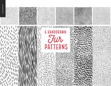 Handdrawn Patterns Set. Fur Se...