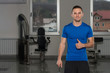 Personal Trainer Showing Thumbs Up Sign