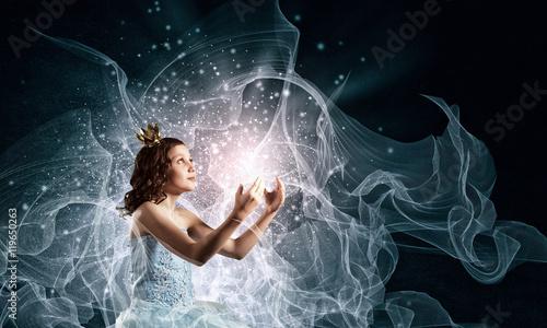 Fotografie, Obraz  She is little princess . Mixed media