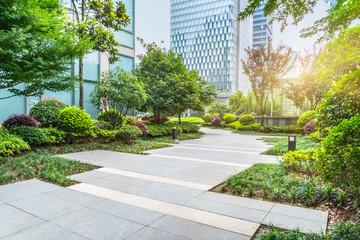 beautiful park at a sunny day,shanghai,china.