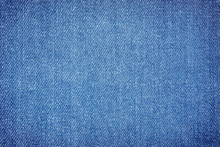 Texture Of Denim Or Blue Jeans...