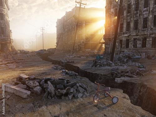Canvas Print ruins of a city