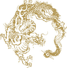 Japanese Traditional Dragon Il...