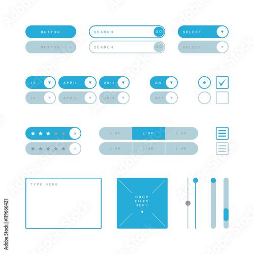 Fotografía  UI design elements vector