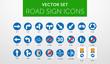 ROAD SIGNS | Znaki Drogowe Nakazu - vector icon PACK vol.1