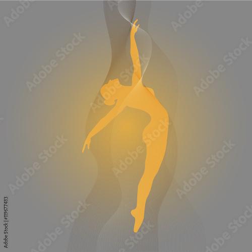 Photo  ballerina silhouette