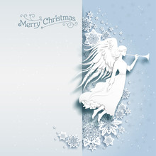 Christmas Card With Angel