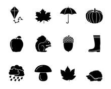 Herbst Icons - Schwarz