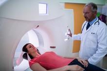 Patient Entering Mri Scan Machine