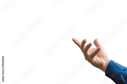 Valokuva  Eine zeigende Hand als Vorlage für Präsentationen