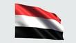 Yemen flag with transparent background