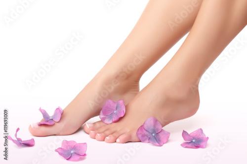 Poster Pedicure Beautiful women's legs