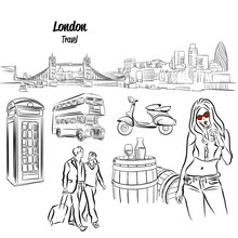 London Panorama And Travel Ico...