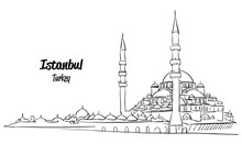 Istanbul Yeni Cami, New Mosque Sketch