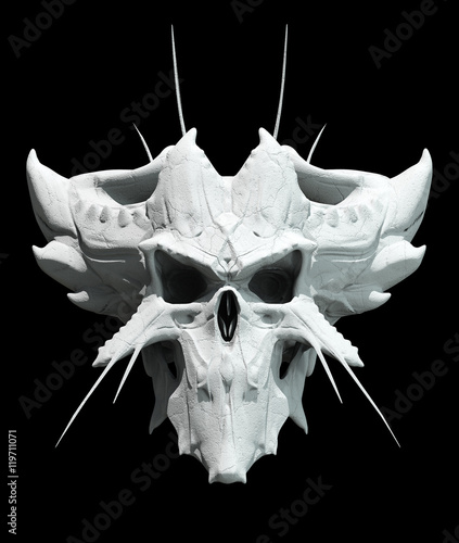 Skull design on a black background for Halloween. Wallpaper Mural