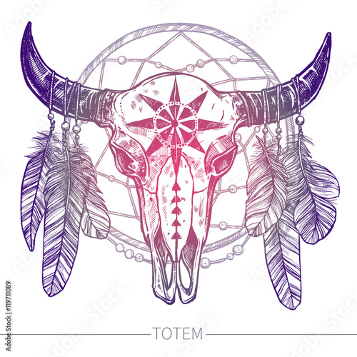 buffalo-skull-with-feathers-i-dreamcatcher-native-american-totem