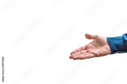 Valokuva  Die flache Hand als Richtungsweiser
