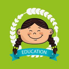 girl student graduation icon vector illustration eps10