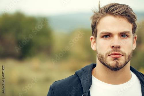 Valokuva  Young bearded sexy guy