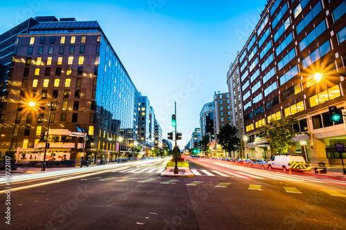 Long Exposure of Connecticut Avenue in Downtown Washington, Dist Fototapeta