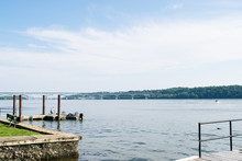 Port Deposit, Maryland Town Next To The Shore Of Susquehanna River