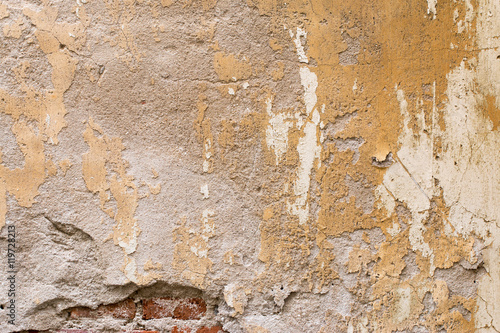 Foto auf AluDibond Alte schmutzig texturierte wand Moldy brick wall background