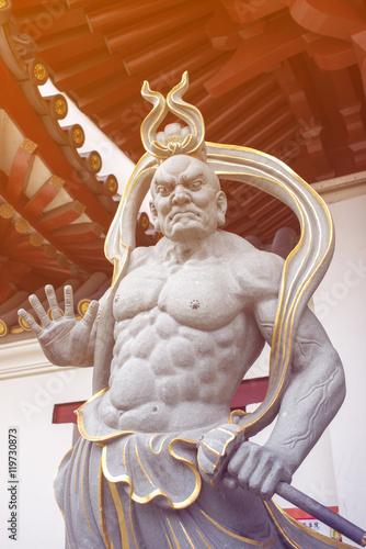 Photo  Buddhist demon guard