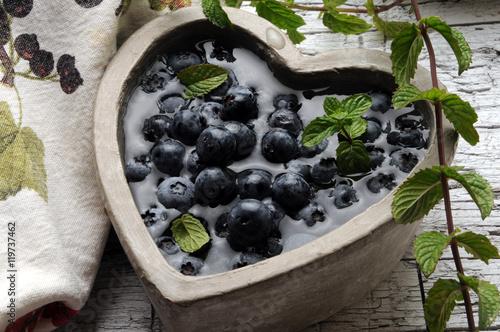 ,Vaccinium myrtillus Borówka czarna Afin Brusnice borůvka European blueberry Canvas Print
