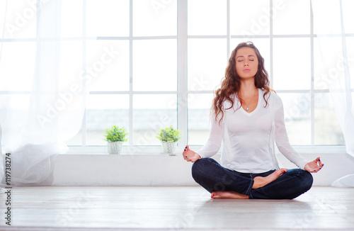 Fotografia  Yoga at home