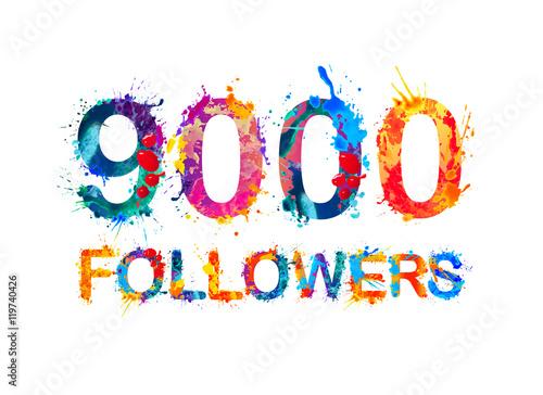 Fotografia  nine thousand (9000) followers
