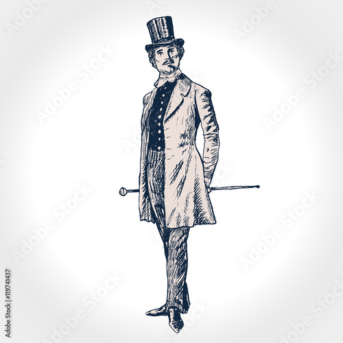 Fotomural Elegant proud man of the nineteenth century