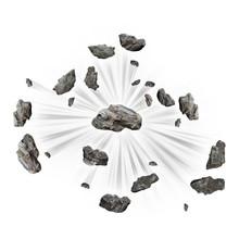 Exploding Rock Concept 3d Render