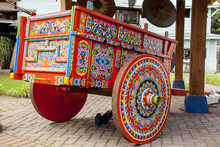 Costa Rica - Typical Decorated And Painted Ox Cart